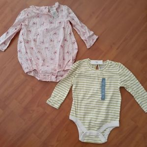 Baby Gap/ Oshkosh B'gosh girl 2pc lot set 12-18mos